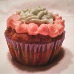 carrot-ginger-dog-cupcake-pink