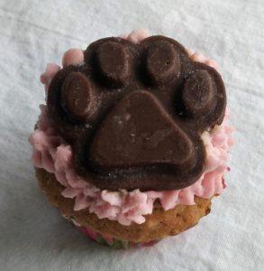apple cinnimon paw cupcake for dogs