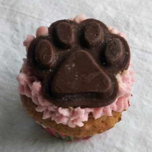 apple cinnimon paw cupcake for dogs