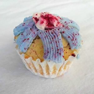 pineapple bacon dog cupcake with sprinkles